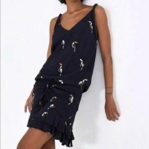 Farm Rio Jungle Tucanos Sleeveless Dress XS